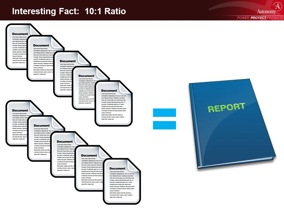 POWER PROTECT PROMOTE Power Protect Promote Interesting Fact: 10:1 Ratio