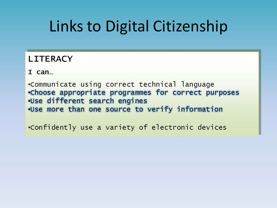 Links to Digital Citizenship