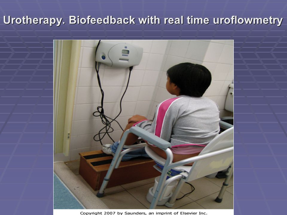 Urotherapy. Biofeedback with real time uroflowmetry
