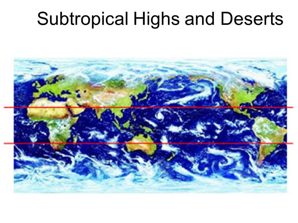 Subtropical Highs and Deserts