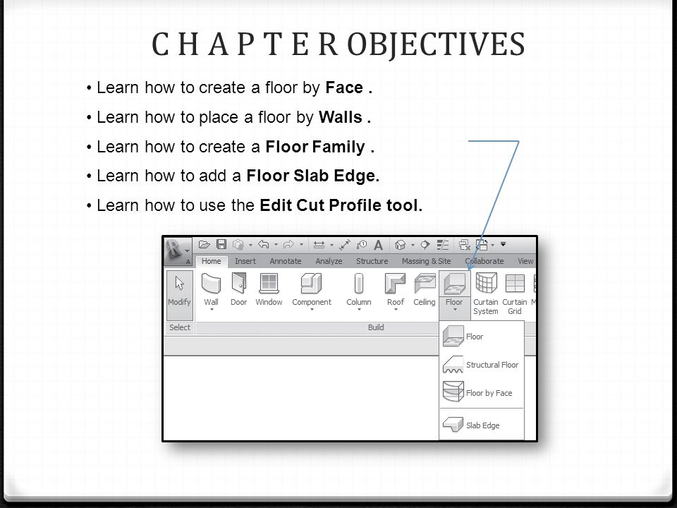 C H A P T E R OBJECTIVES Learn how to create a floor by Face.