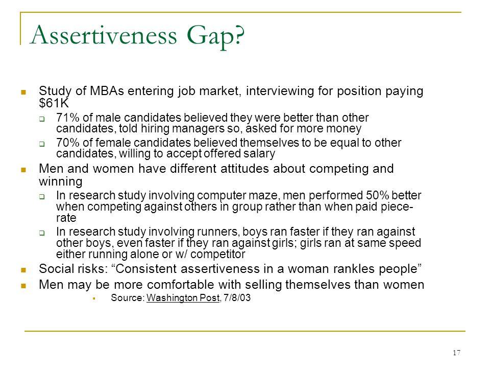 17 Assertiveness Gap.