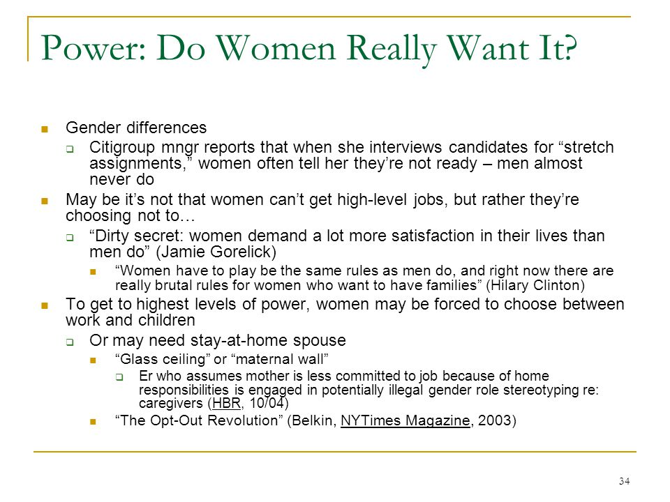 34 Power: Do Women Really Want It.