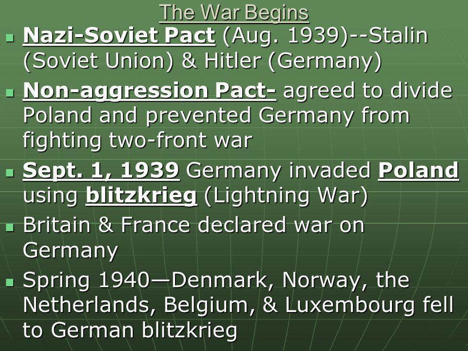 Establishing a Puppet Government Germany defeated France (1940)-- bypassed the Maginot Line Germany defeated France (1940)-- bypassed the Maginot Line 300,000 soldiers rescued at Dunkirk300,000 soldiers rescued at Dunkirk Germany est.