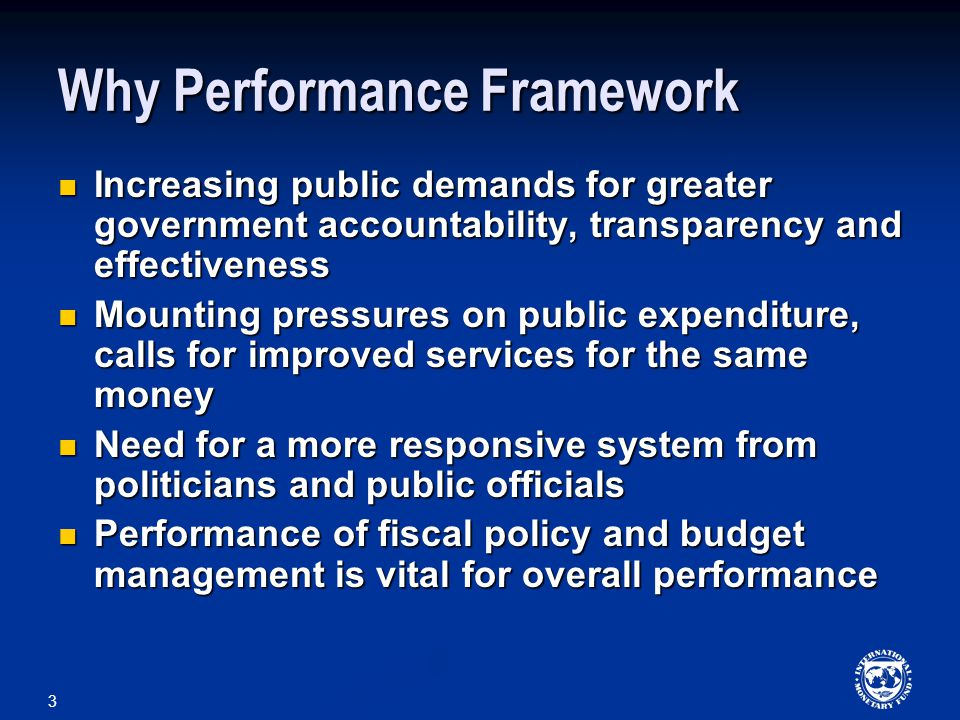 4 Performance of Budget Management Three goals: Macroeconomic stability and aggregate fiscal discipline Macroeconomic stability and aggregate fiscal discipline Allocation of resources to the strategic priorities – expressed by the society Allocation of resources to the strategic priorities – expressed by the society Efficiency in the use of resources in the implementation of government policies Efficiency in the use of resources in the implementation of government policies All three are closely interwoven and ultimately relate to efficiency.