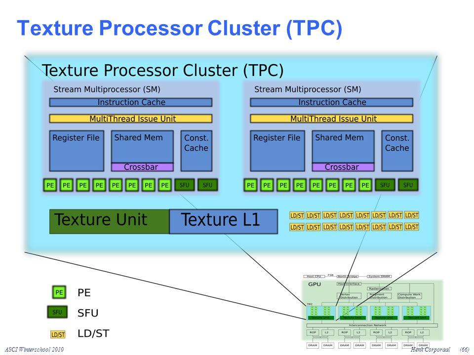 ASCI Winterschool 2010Henk Corporaal(66) Texture Processor Cluster (TPC)