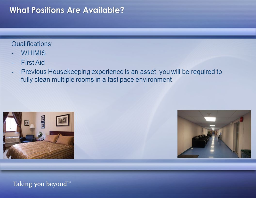 What Positions Are Available.