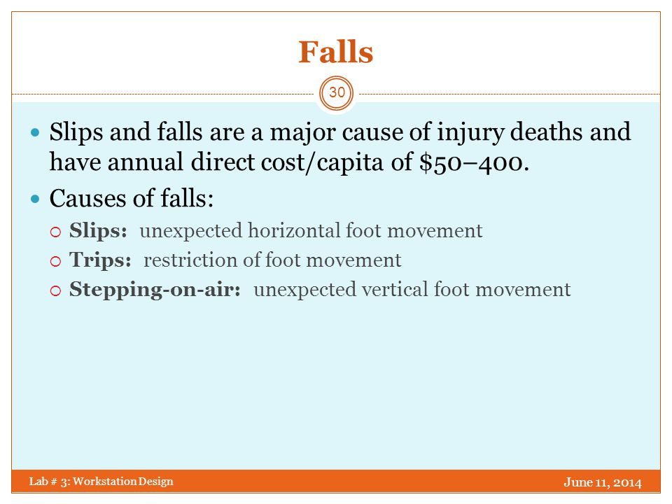 Solutions for Falls Prevent the fall: Use well-designed ladders, scaffolds, and ramps properly.