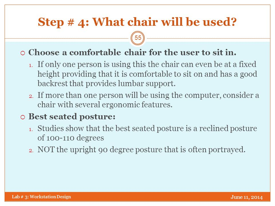 How to choose an ergonomic chair.