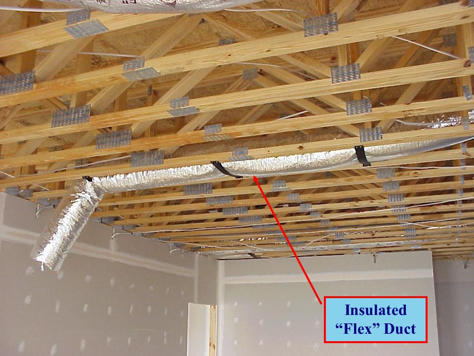 Duct Anchorage Flexible Duct Insulation Sprinkler Pipe Rare in Residential Construction