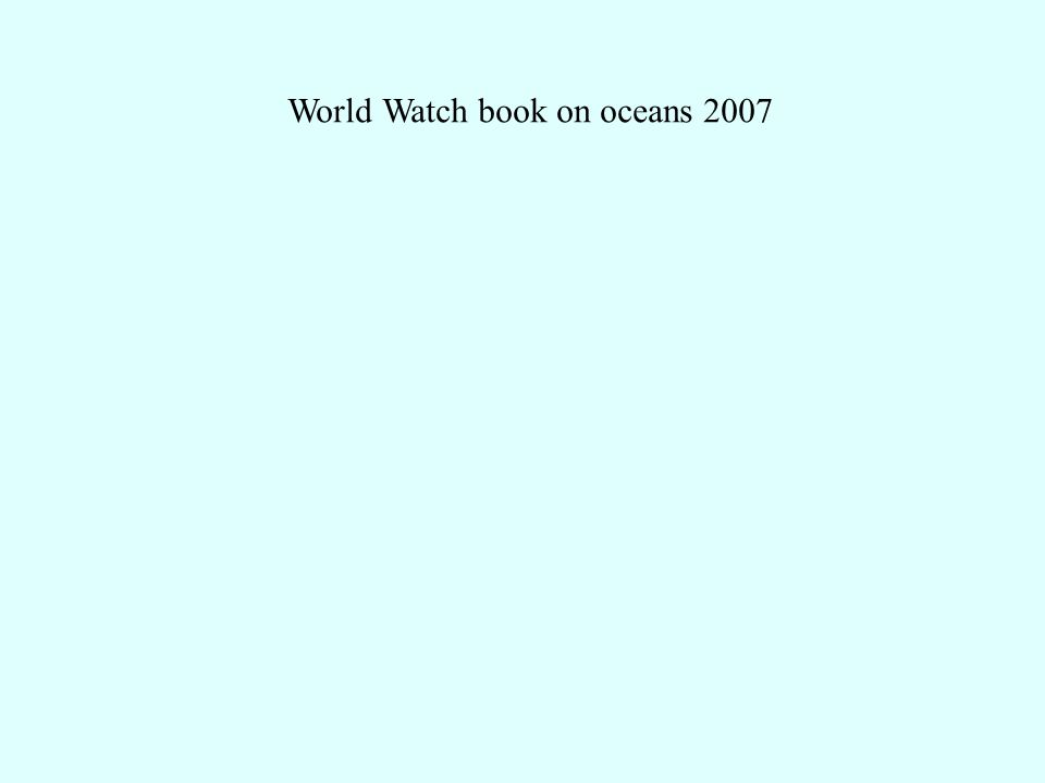 World Watch book on oceans 2007