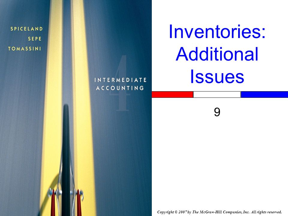 9-52 Inventory Errors Overstatement of beginning inventory Overstates cost of goods sold and Understates pretax income.