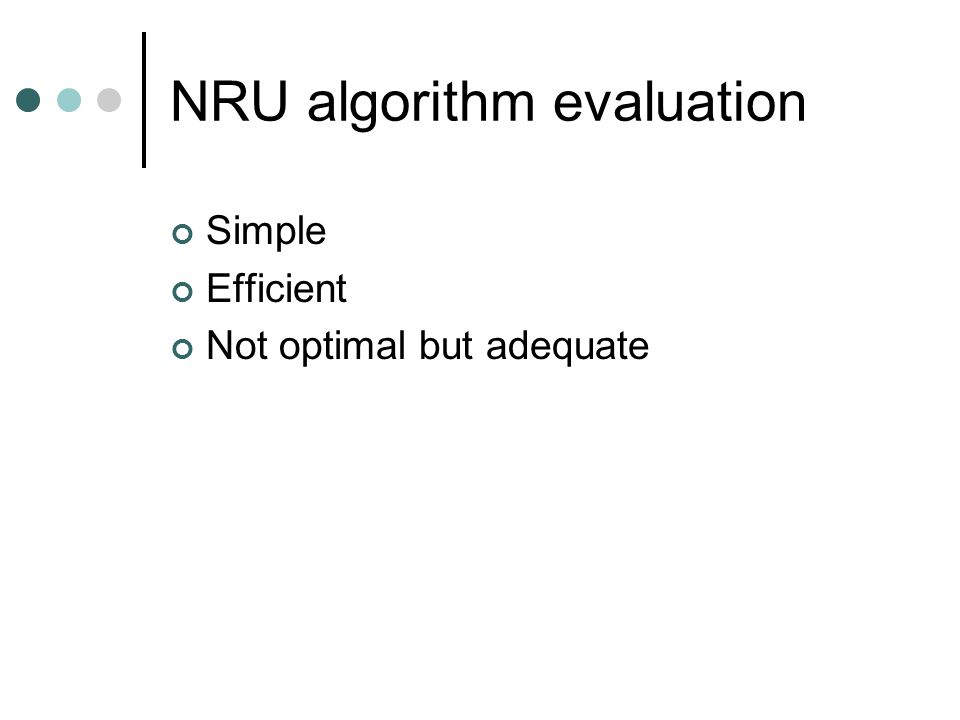 Summary of page replacement algorithms