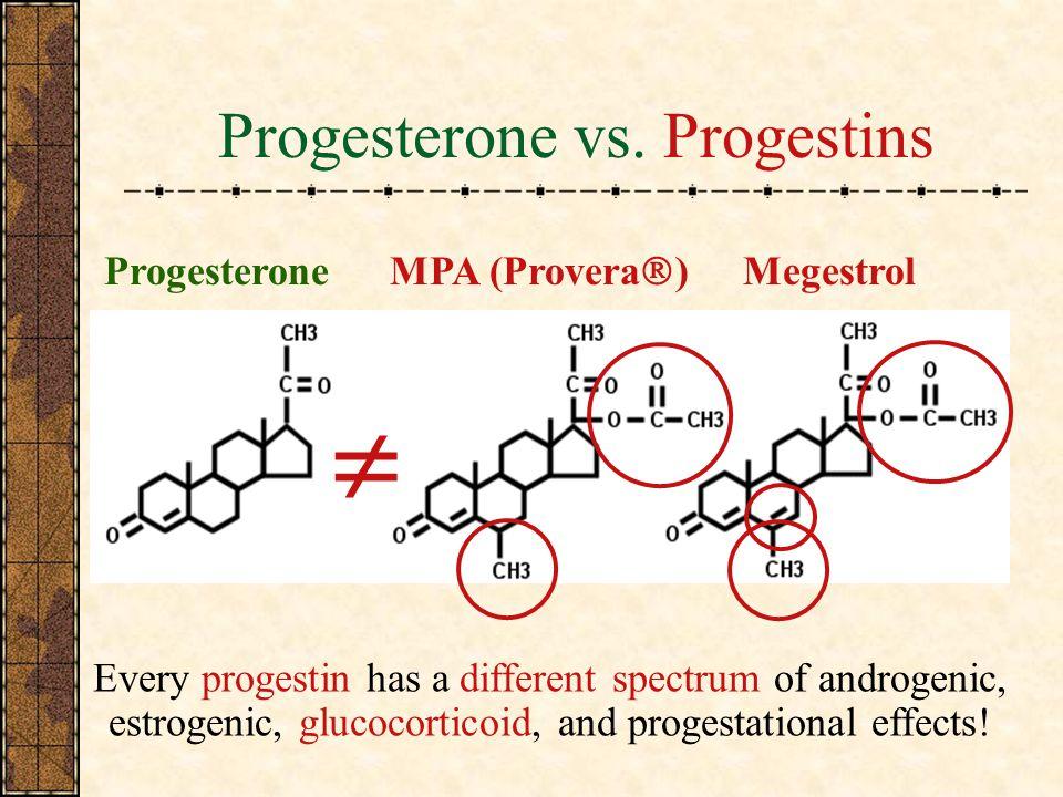 Progesterone vs.
