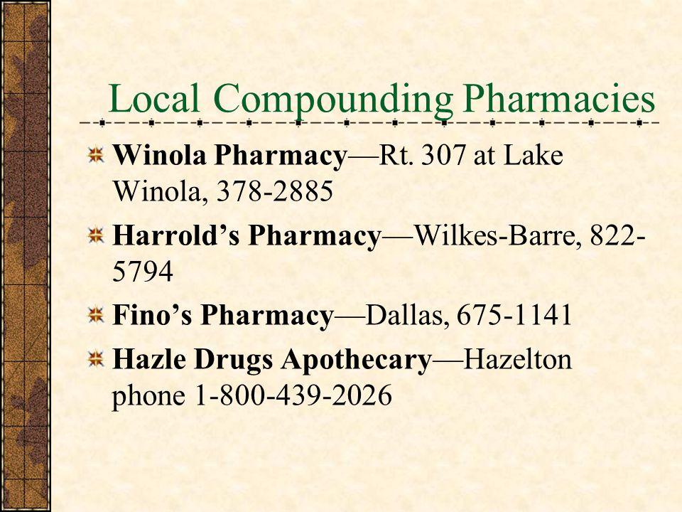 Local Compounding Pharmacies Winola PharmacyRt.