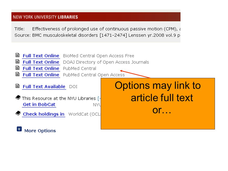 Options may link to article full text or…