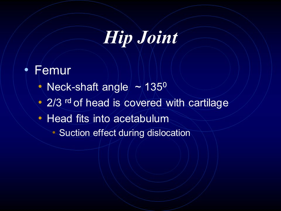 Surgical Procedure An incision about eight inches long (dotted line) Exposure hip joint Anterior Posterior