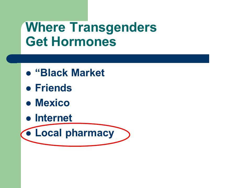 Where Transgenders Get Hormones Black Market Friends Mexico Internet Local pharmacy