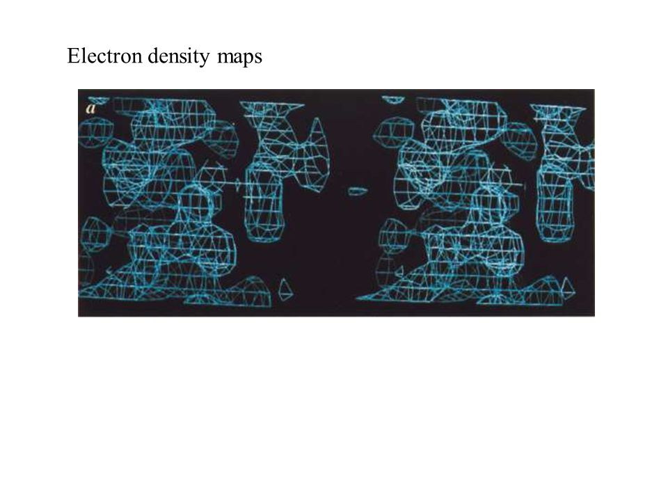 Electron density maps
