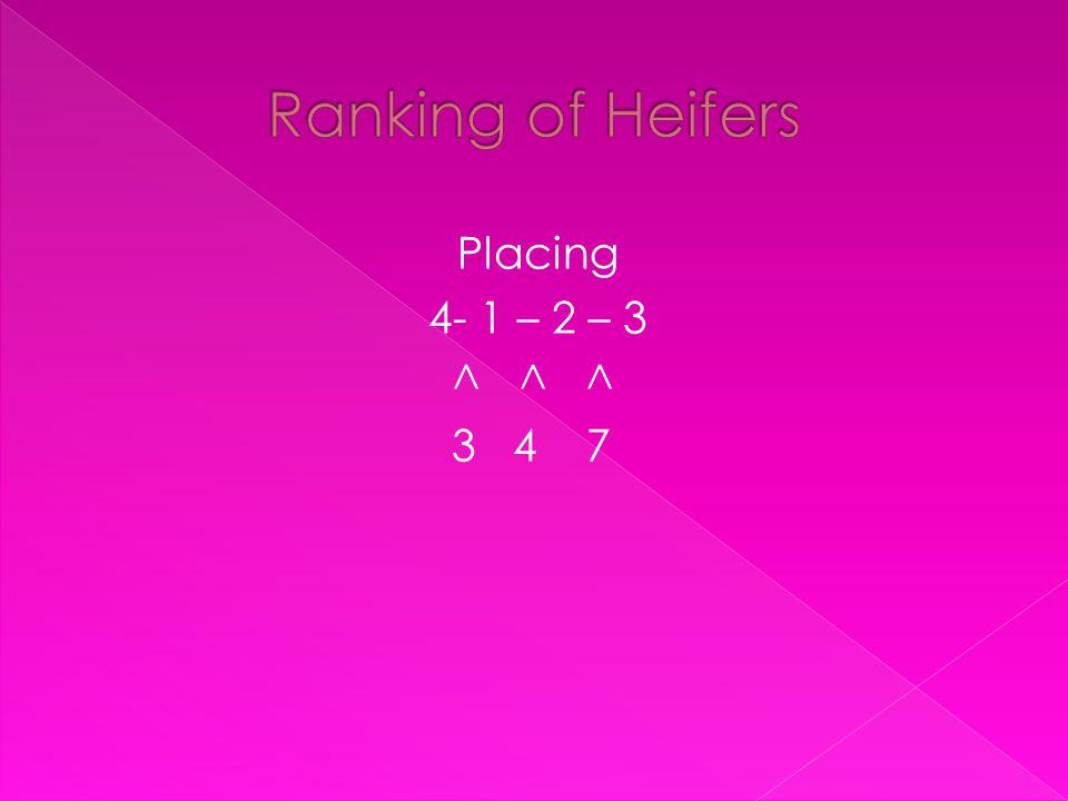 Placing 4- 1 – 2 – 3 ^ ^ ^ 3 4 7