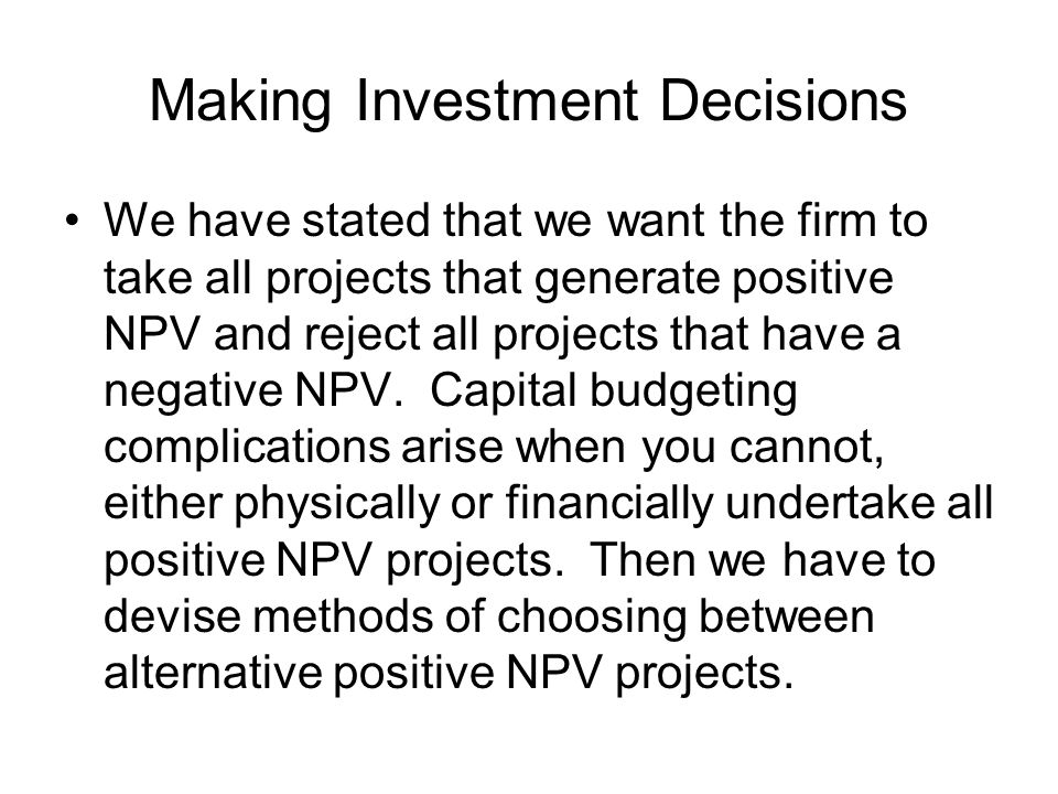 Alternatives with Different Lives This Equivalent Annual Cash Flow (or Cost) is a convenient way of examining the host of complicated, mutually exclusive capital budgeting problems listed above: These all involve A TIMING PROBLEM (1)When to start project (2)When to cash in Forestry Wine (3) Replacement (4)Short vs.