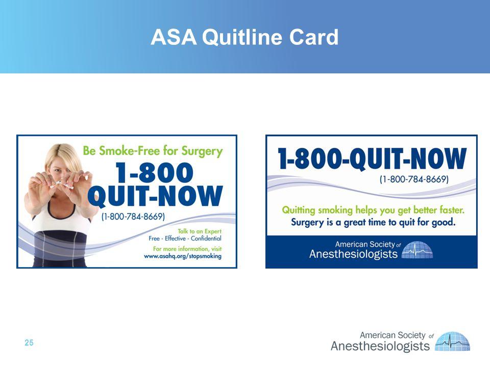 25 ASA Quitline Card
