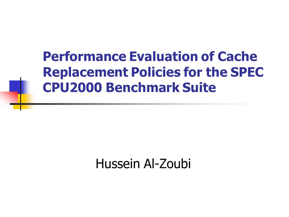 Evaluating cache replacement policies: questions and answers Q: How much associativity is enough for state-of-the-art benchmarks.