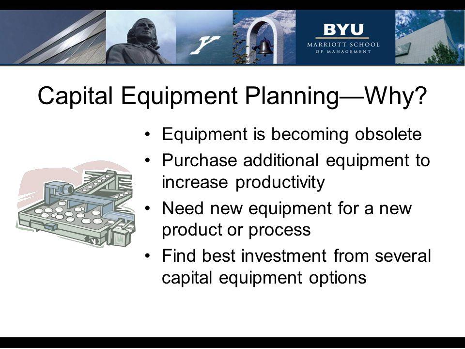 Capital Equipment PlanningHow.