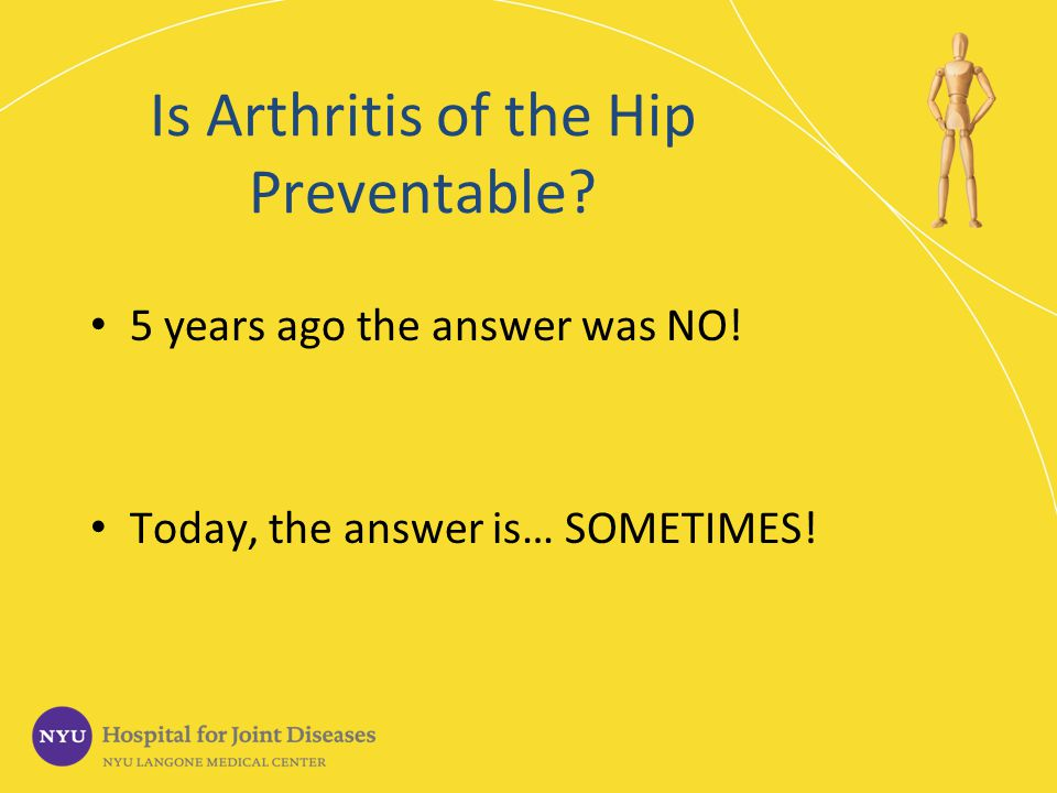 When should you have a hip replacement.