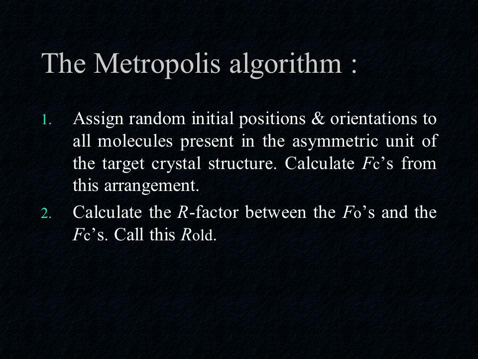 The Metropolis algorithm : 1.
