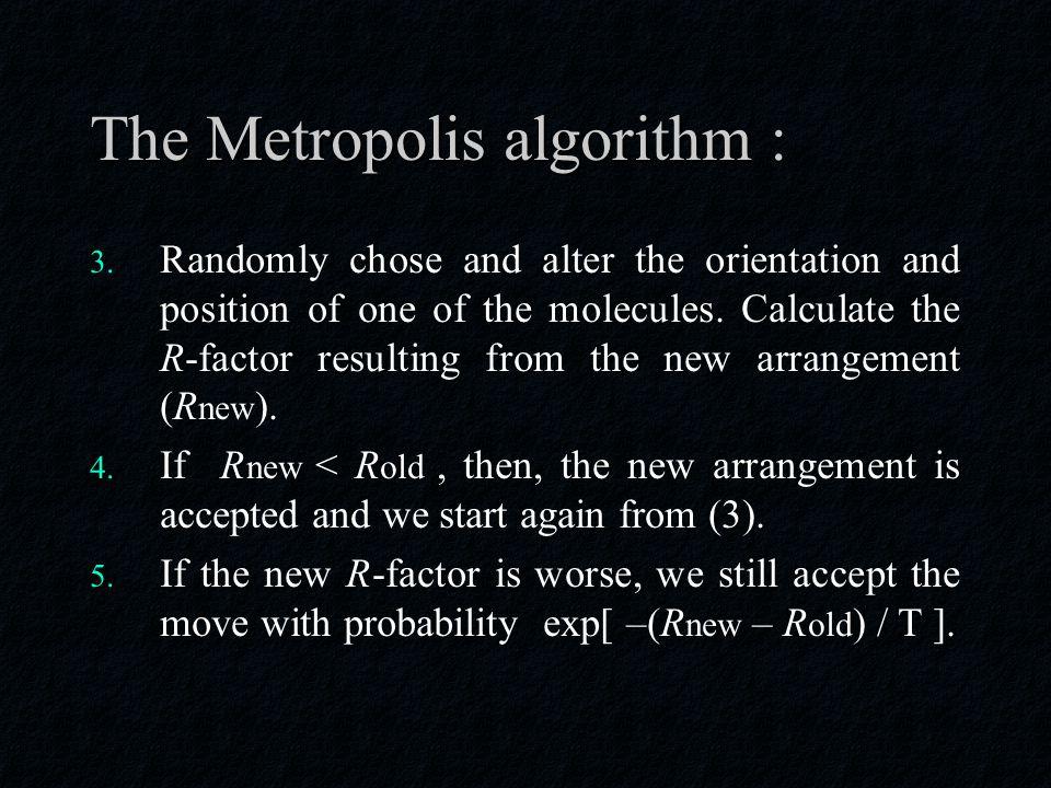 The Metropolis algorithm : 3.