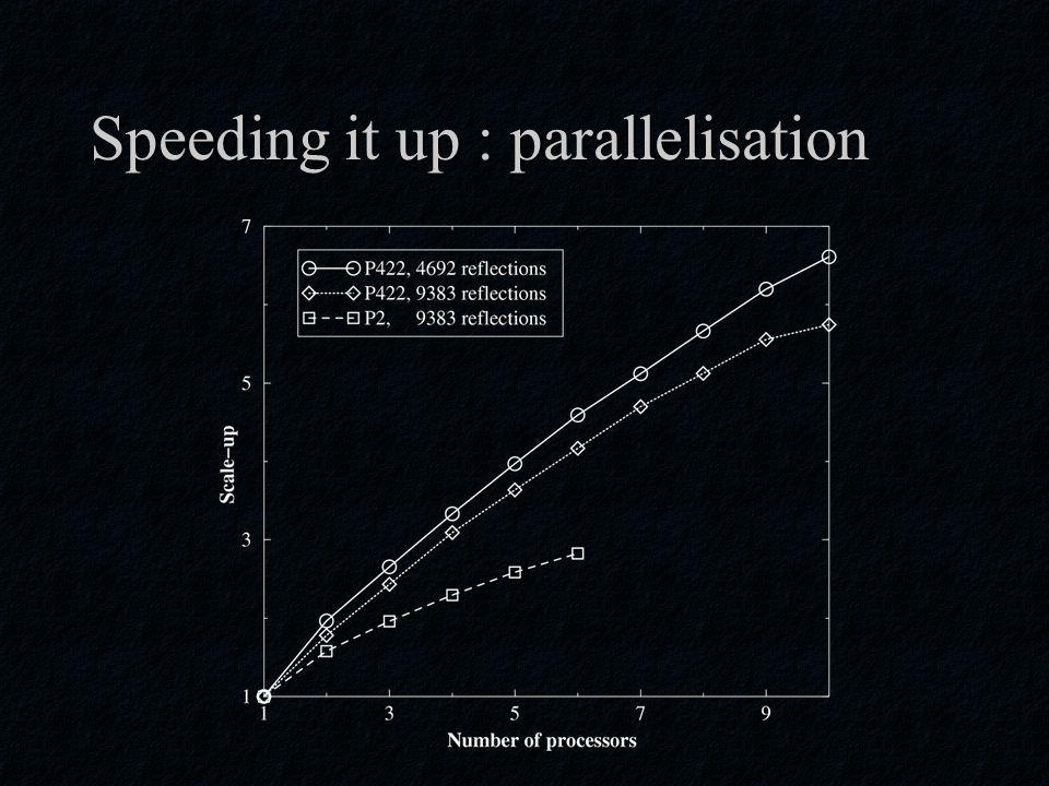 Speeding it up : parallelisation