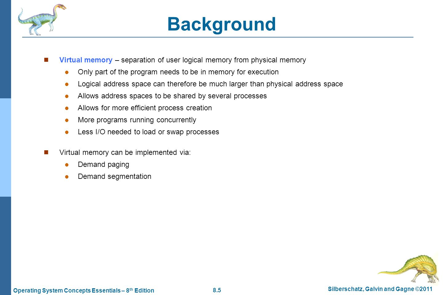 8.36 Silberschatz, Galvin and Gagne ©2011 Operating System Concepts Essentials – 8 th Edition Optimal Page Replacement