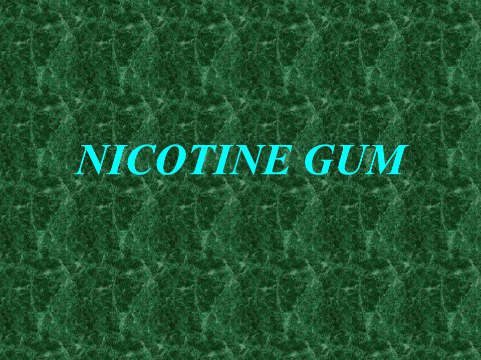 NICOTINE REPLACEMENT THERAPY NICOTINE POLACRILEX NICOTINE GUM NICOTINE PATCH NICOTINE NASAL SPRAY NICOTINE INHALER