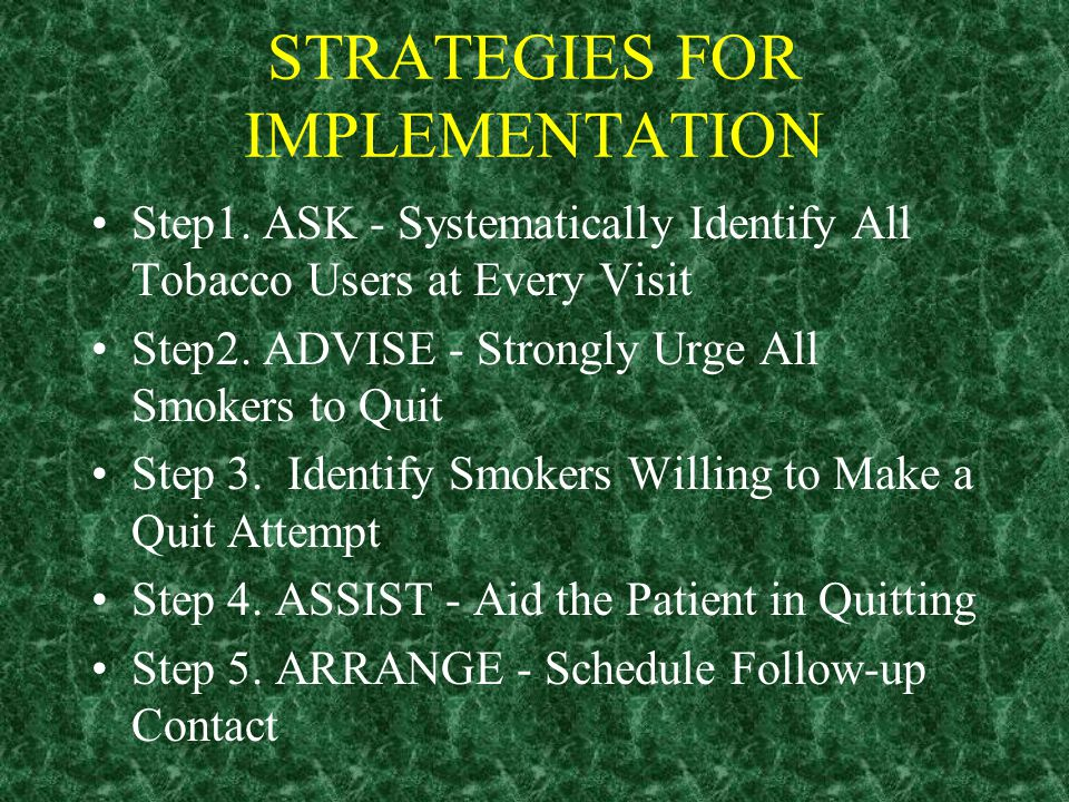 Panel Recommendations Address Three Audiences: Primary Care Clinicians Smoking Cessation Specialists Health Care administrators, insurers, and purchas
