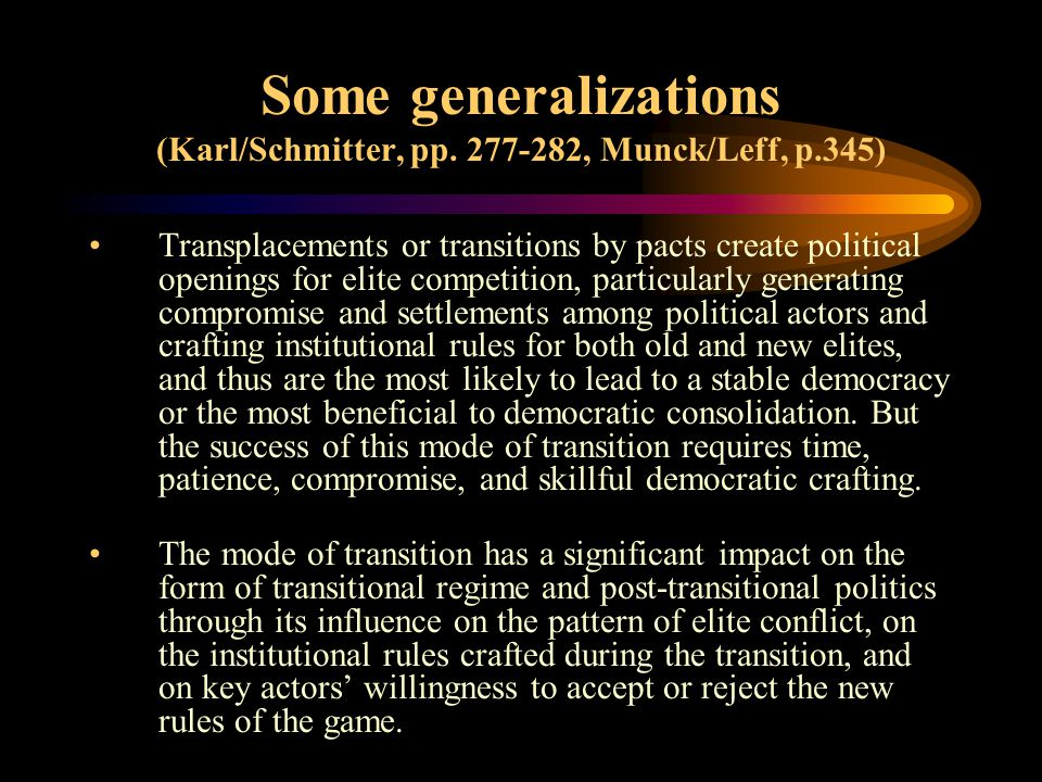 Some generalizations (Karl/Schmitter, pp.