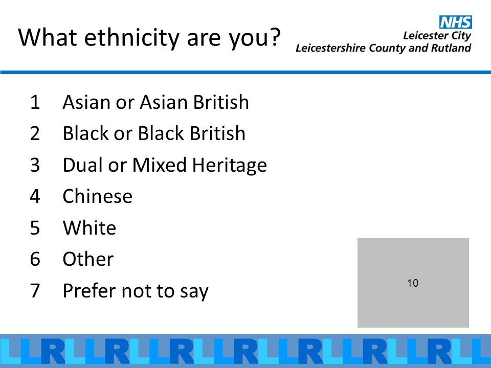 What ethnicity are you.