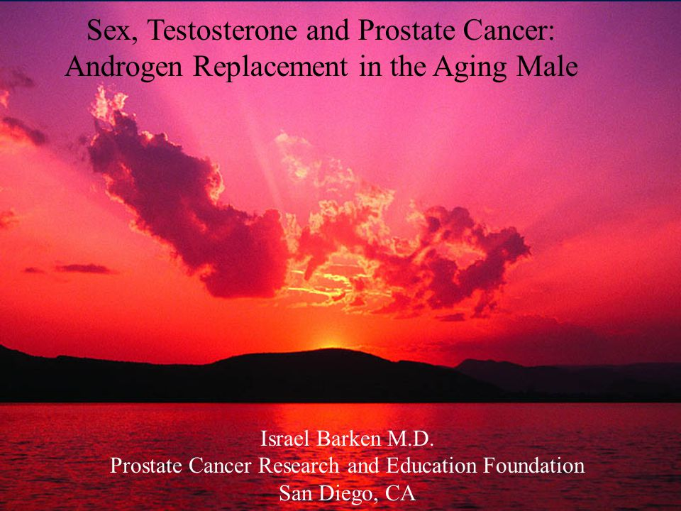 Sex, Testosterone and Prostate Cancer: Androgen Replacement in the Aging Male Israel Barken M.D.