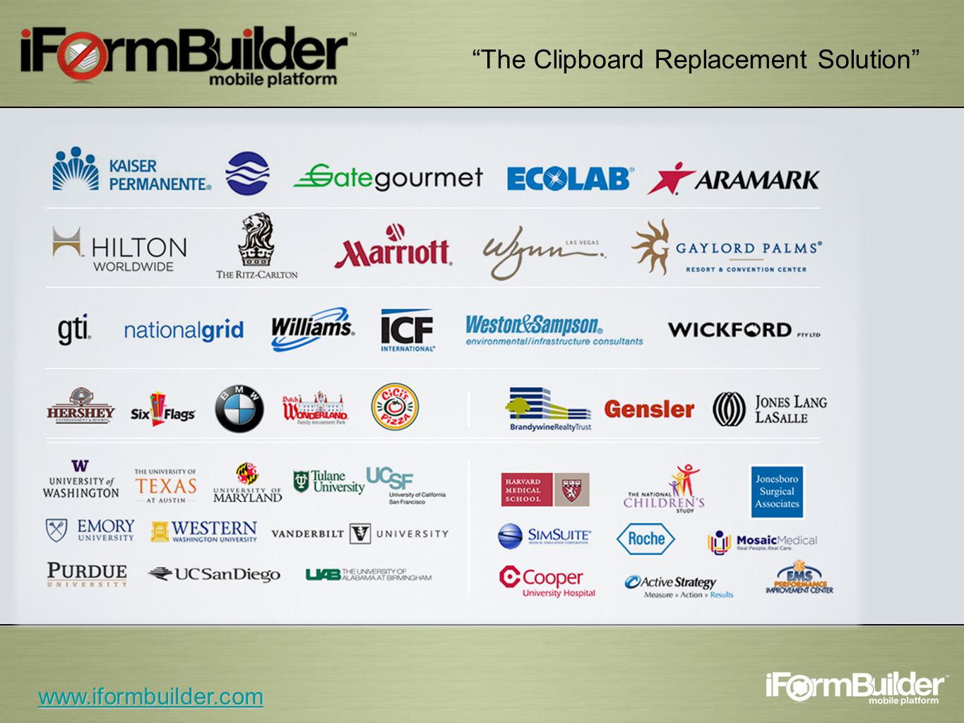 The Clipboard Replacement Solution www.iformbuilder.com
