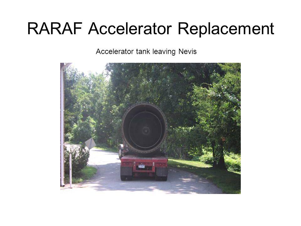 Accelerator tank leaving Nevis