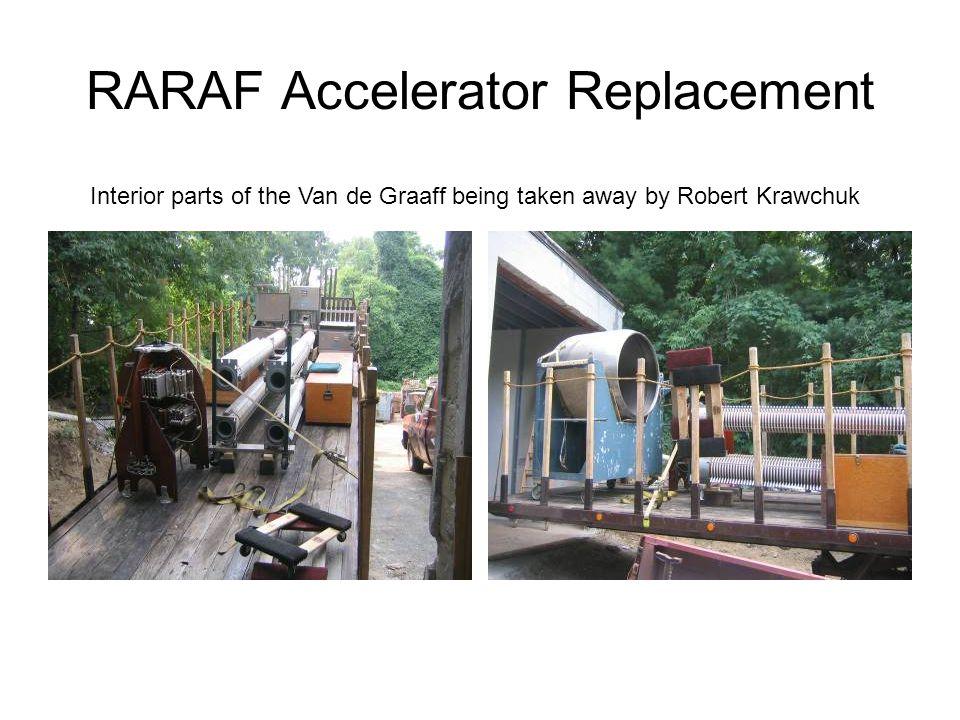 RARAF Accelerator Replacement Interior parts of the Van de Graaff being taken away by Robert Krawchuk