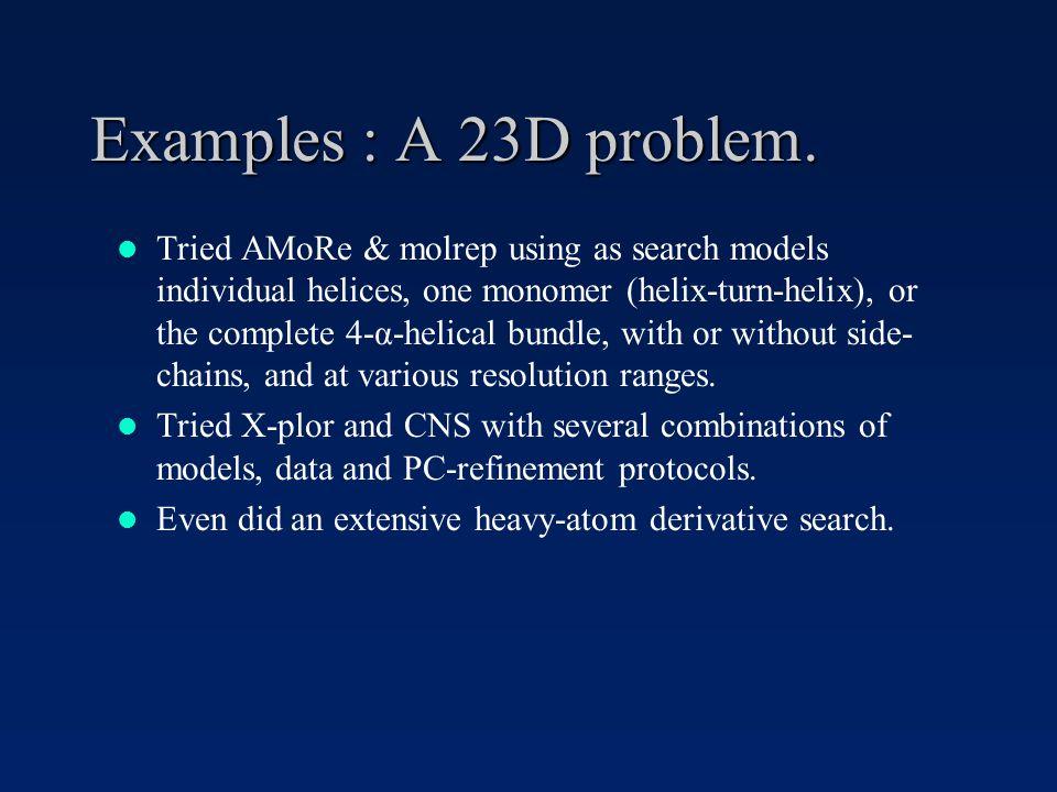 Examples : A 23D problem.