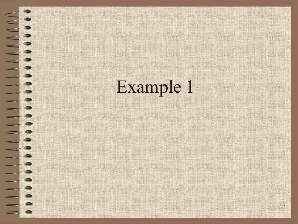 10 Example 1