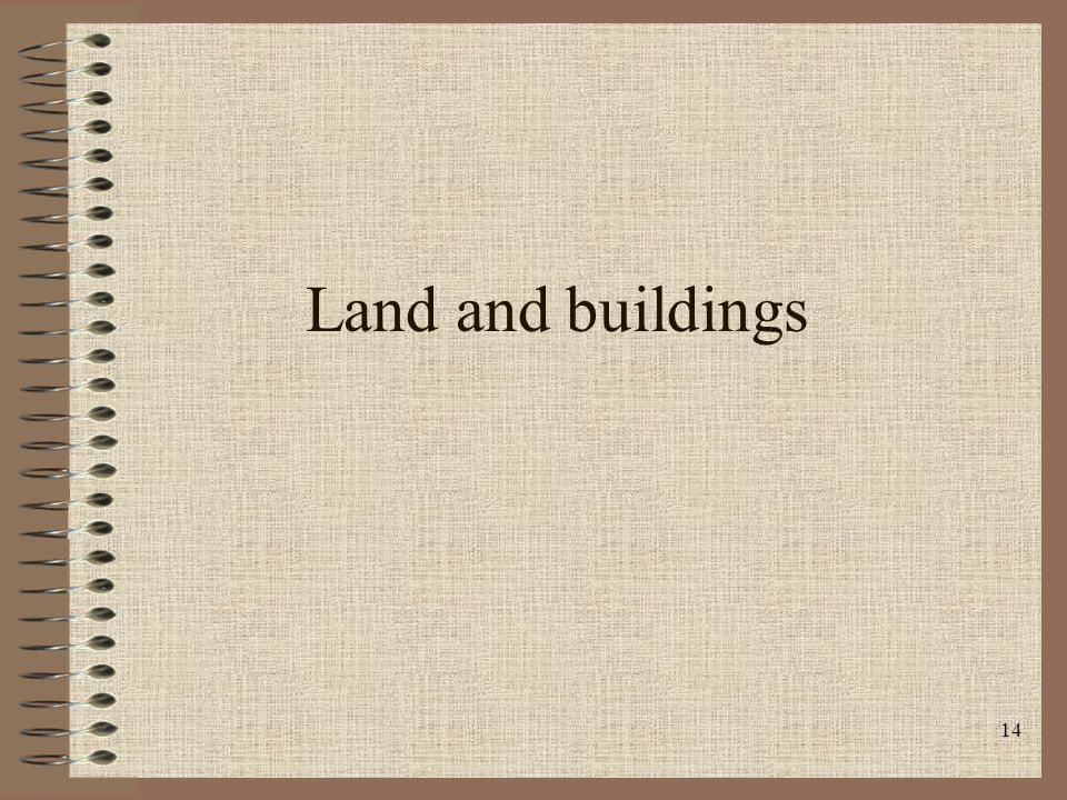 14 Land and buildings