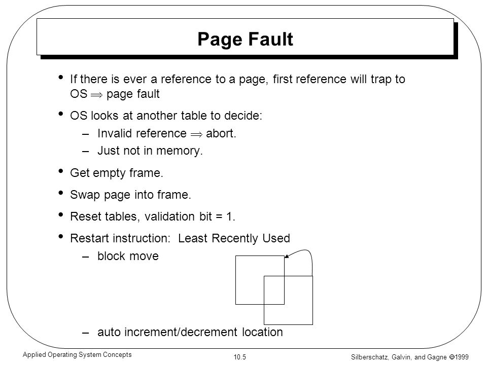 Silberschatz, Galvin, and Gagne 1999 10.6 Applied Operating System Concepts What happens if there is no free frame.