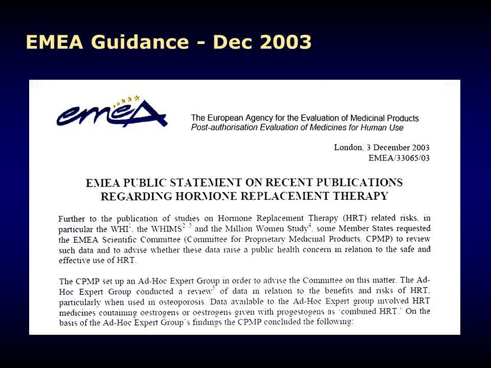 EMEA Guidance - Dec 2003