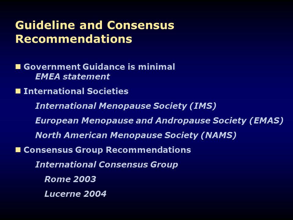 North American Menopause Society Position Statement Menopause 2004. 11; 589-600
