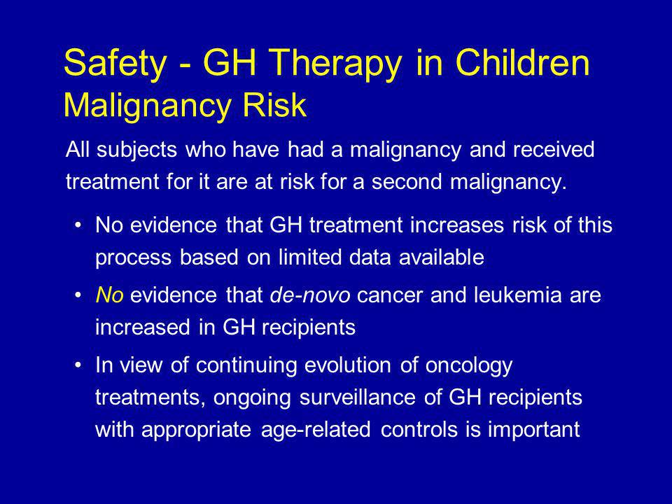 All subjects who have had a malignancy and received treatment for it are at risk for a second malignancy.
