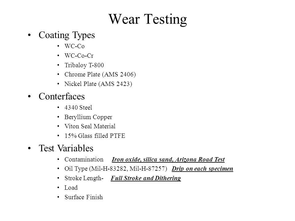 Wear Test Fixture Load Pin 3000 lb.