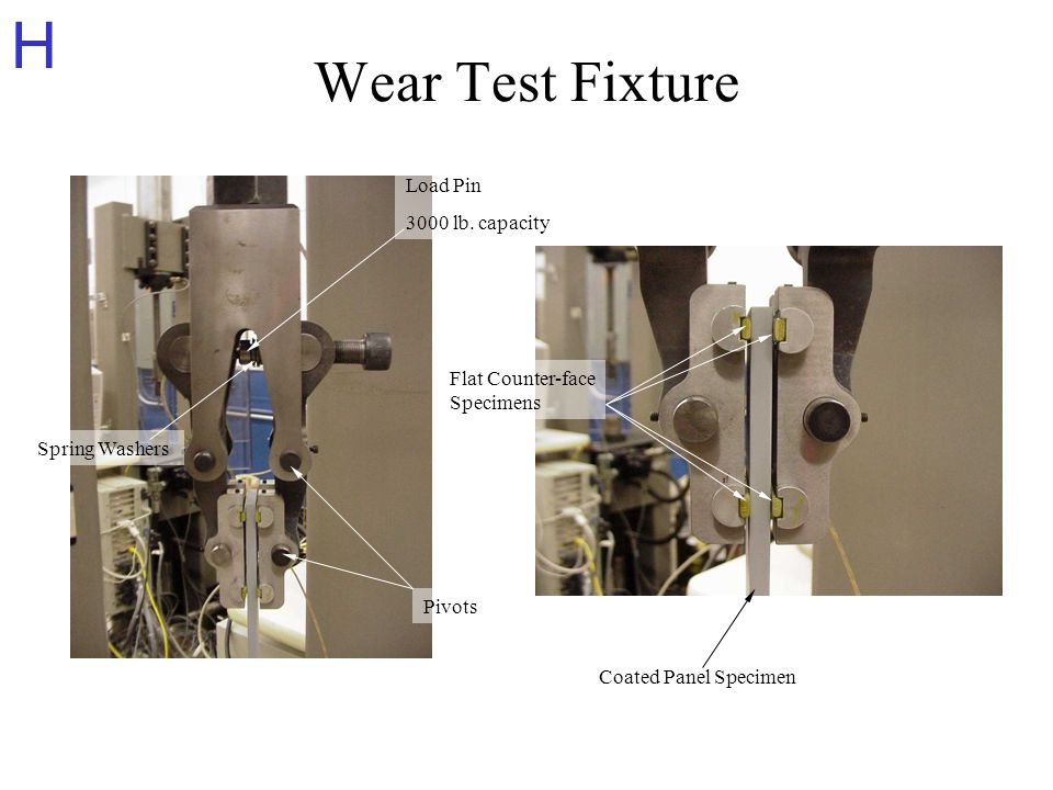 H Wear Test Fixture Load Pin 3000 lb.